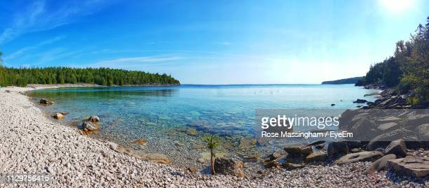 scenic view of sea against sky - great lakes stock pictures, royalty-free photos & images