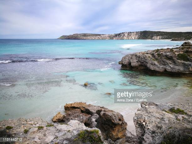 scenic view of sea against sky - kangaroo island stock pictures, royalty-free photos & images
