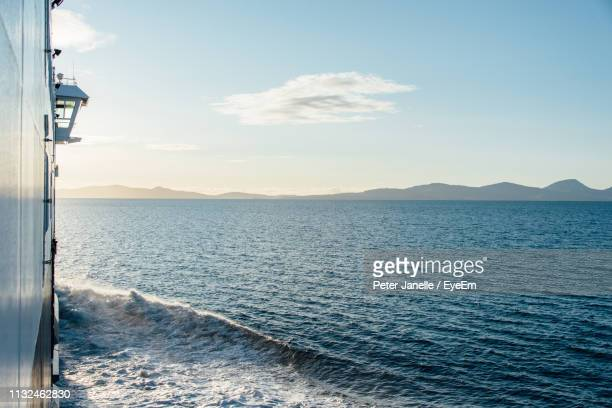 scenic view of sea against sky - ferry stock pictures, royalty-free photos & images