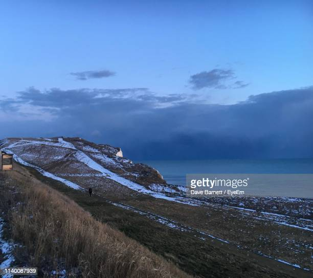 scenic view of sea against sky - saltdean stock pictures, royalty-free photos & images