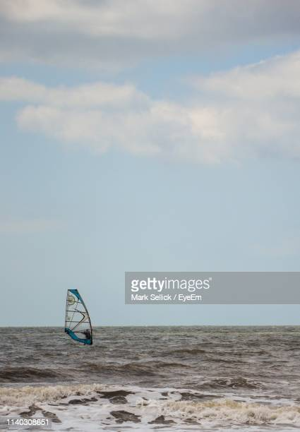 scenic view of sea against sky - port talbot stock pictures, royalty-free photos & images