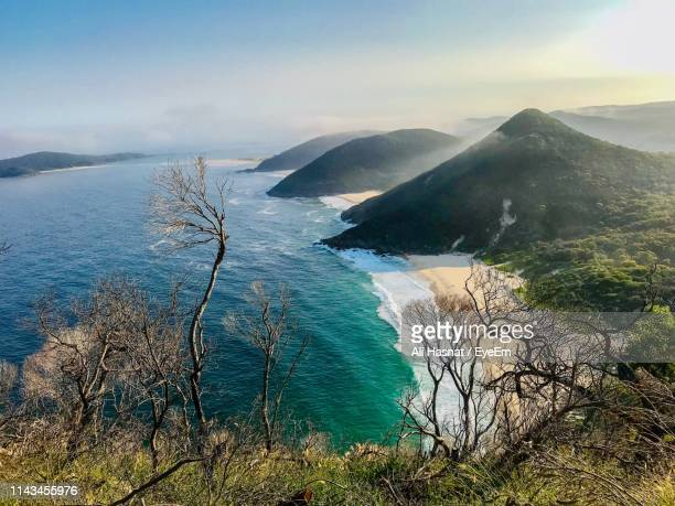 scenic view of sea against sky - new south wales stock pictures, royalty-free photos & images
