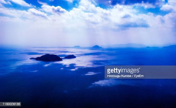 scenic view of sea against sky - matsuyama ehime stock pictures, royalty-free photos & images