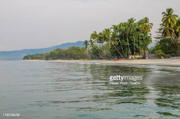 scenic view of sea against sky - sierra leone stock pictures, royalty-free photos & images