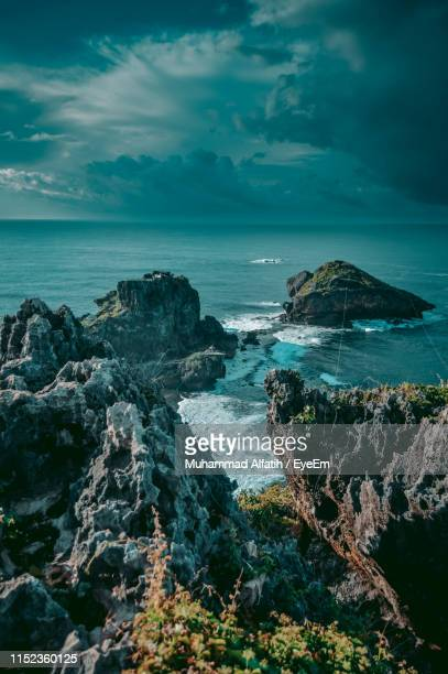 scenic view of sea against sky - yogyakarta stock pictures, royalty-free photos & images