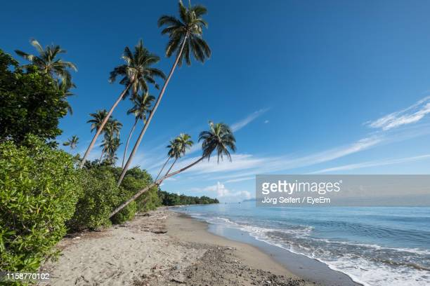 scenic view of sea against sky - solomon islands stock pictures, royalty-free photos & images
