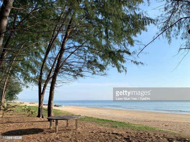 scenic view of sea against sky - terengganu stock pictures, royalty-free photos & images