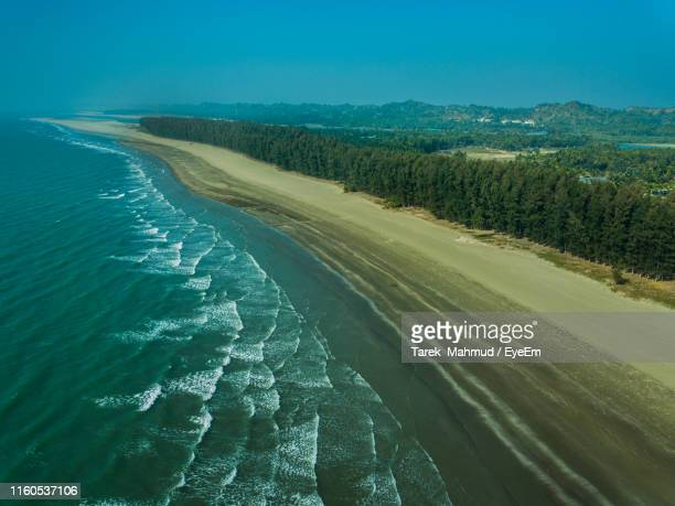 scenic view of sea against sky - cox's bazaar stock pictures, royalty-free photos & images