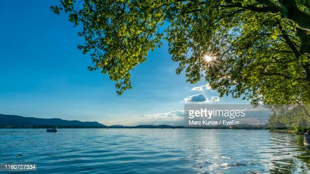 scenic view of sea against sky - bodensee stock pictures, royalty-free photos & images