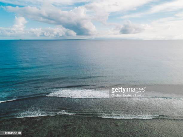 scenic view of sea against sky - bortes stock pictures, royalty-free photos & images