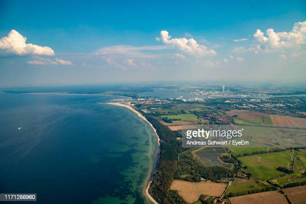 scenic view of sea against sky - mecklenburg vorpommern stock pictures, royalty-free photos & images