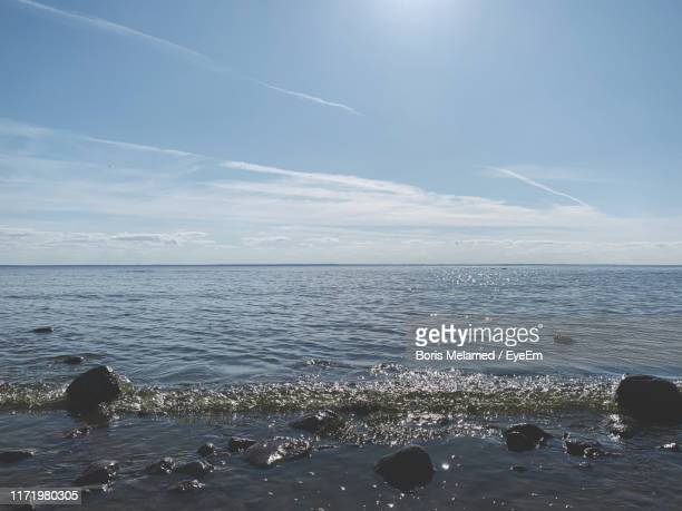 scenic view of sea against sky - boris stock photos and pictures