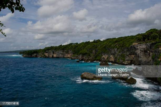 scenic view of sea against sky - makassar stock pictures, royalty-free photos & images