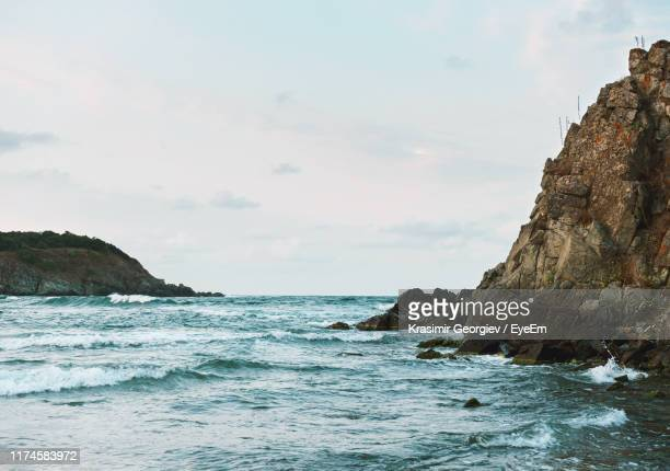 scenic view of sea against sky - krasimir georgiev stock photos and pictures