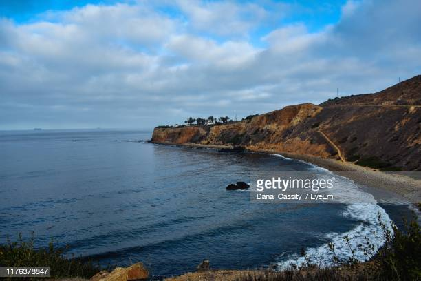 scenic view of sea against sky - rancho palos verdes stock pictures, royalty-free photos & images