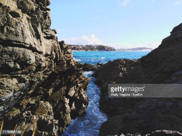 scenic view of sea against sky - wally yegiora stock photos and pictures