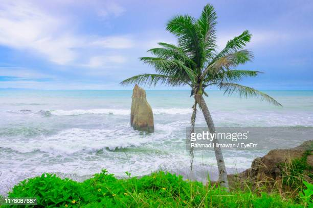 scenic view of sea against sky - rahmad himawan stock photos and pictures