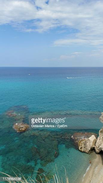 scenic view of sea against sky - marica octavian stock photos and pictures