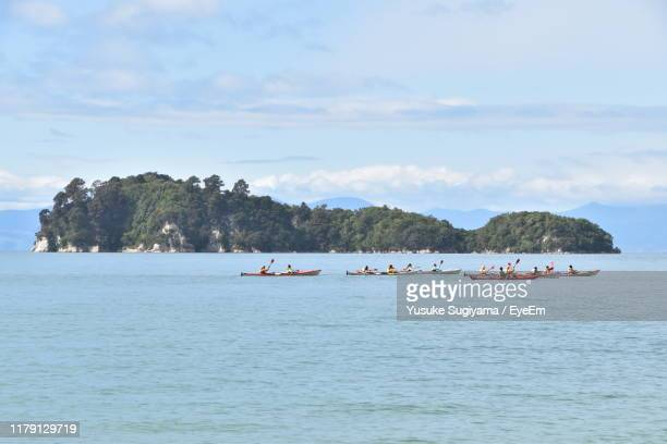 scenic view of sea against sky - nelson city new zealand stock pictures, royalty-free photos & images