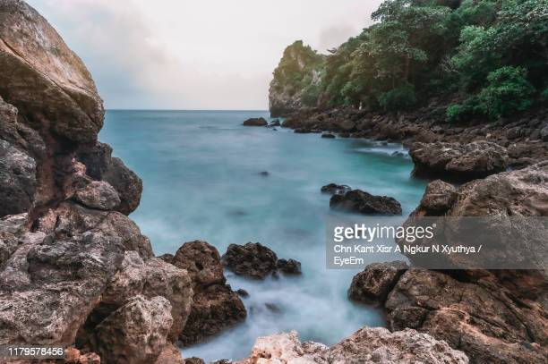 scenic view of sea against sky - prachuap khiri khan province stock pictures, royalty-free photos & images