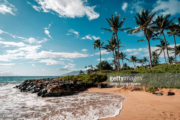 scenic view of sea against sky - hawaii islands stock pictures, royalty-free photos & images