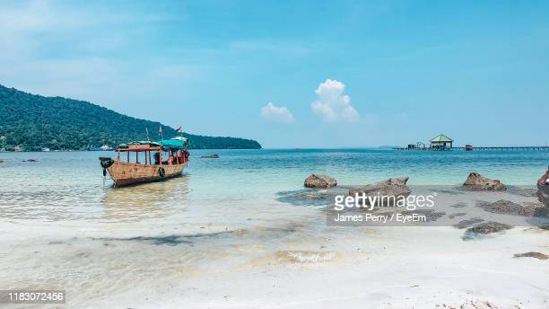 scenic view of sea against sky - cambodia stock pictures, royalty-free photos & images