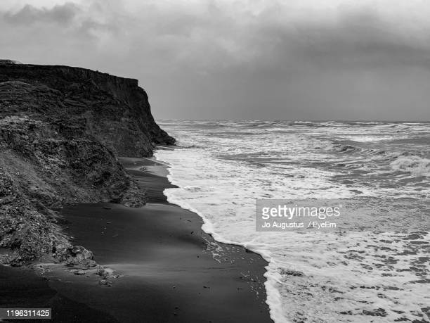 scenic view of sea against sky - compton bay isle of wight stock pictures, royalty-free photos & images