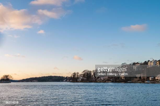 scenic view of sea against sky - colbing stock pictures, royalty-free photos & images