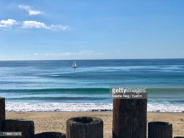 scenic view of sea against sky - redondo beach california stock pictures, royalty-free photos & images