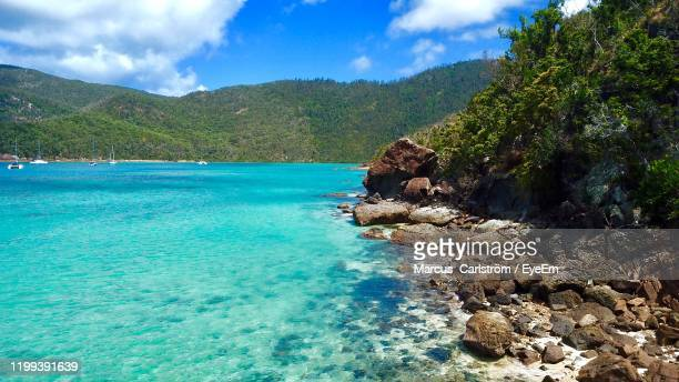 scenic view of sea against sky - sunshine coast australia stock pictures, royalty-free photos & images