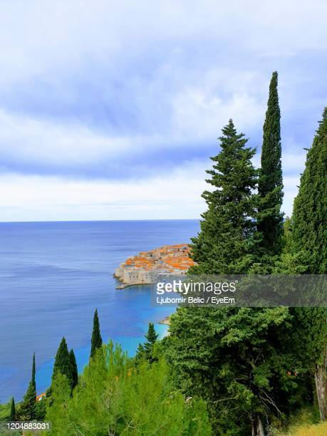 scenic view of sea against sky - ljubomir belic stock pictures, royalty-free photos & images