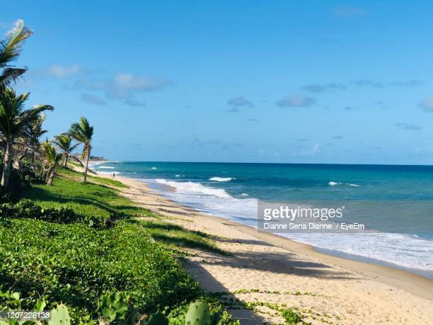 scenic view of sea against sky - natal brazil stock pictures, royalty-free photos & images