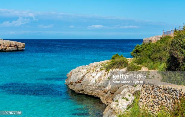 scenic view of sea against sky - june stock pictures, royalty-free photos & images