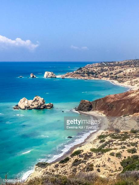 scenic view of sea against sky - cyprus island stock pictures, royalty-free photos & images