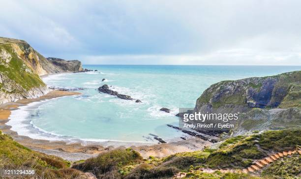 scenic view of sea against sky - andy rinkoff stock pictures, royalty-free photos & images