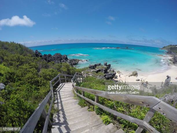 scenic view of sea against sky - bermuda stock pictures, royalty-free photos & images