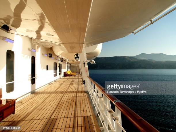 scenic view of sea against sky - deck stock pictures, royalty-free photos & images