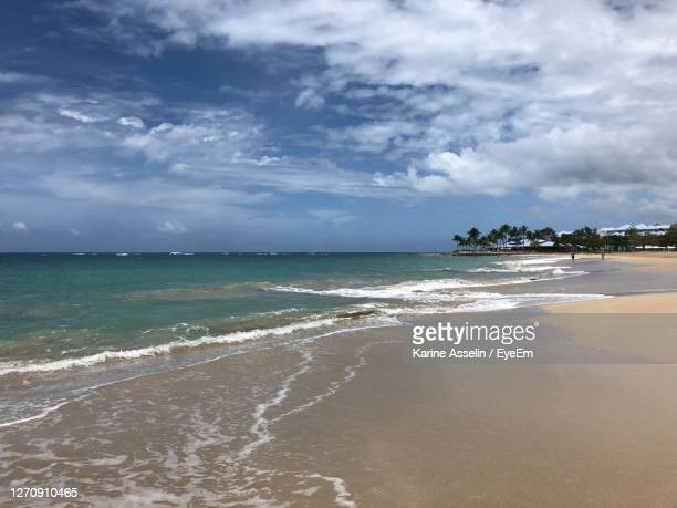 scenic view of sea against sky - karine asselin stock pictures, royalty-free photos & images