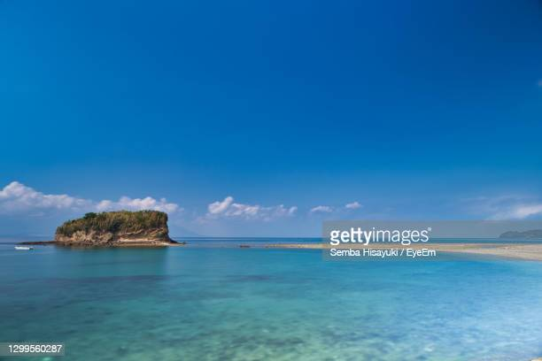 scenic view of sea against sky - kumamoto prefecture stock pictures, royalty-free photos & images