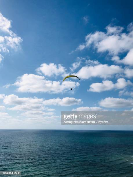 scenic view of sea against sky - netanya stock pictures, royalty-free photos & images