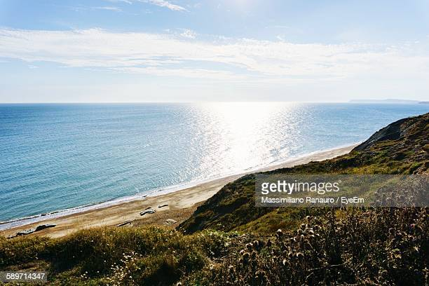 scenic view of sea against sky - massimiliano ranauro stock pictures, royalty-free photos & images