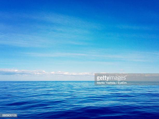 scenic view of sea against sky - horizon over water stock photos and pictures
