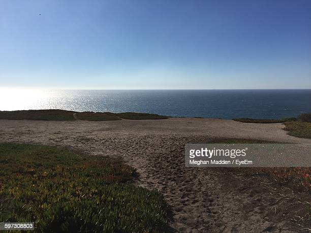 scenic view of sea against sky - meghan stock photos and pictures