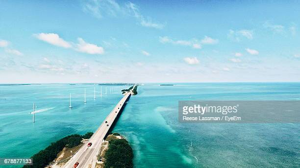 scenic view of sea against sky - florida keys stock pictures, royalty-free photos & images