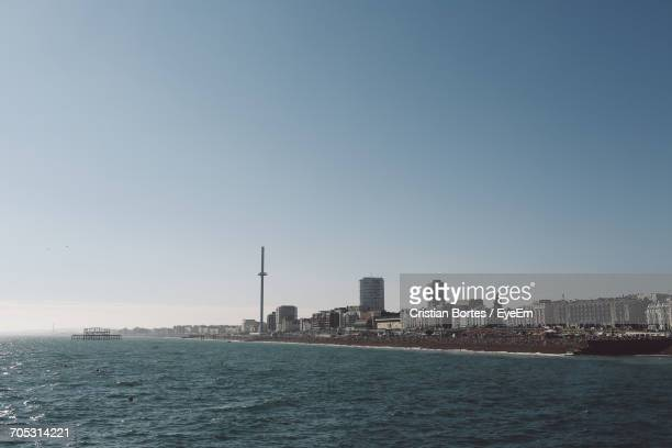 scenic view of sea against sky - bortes stock photos and pictures