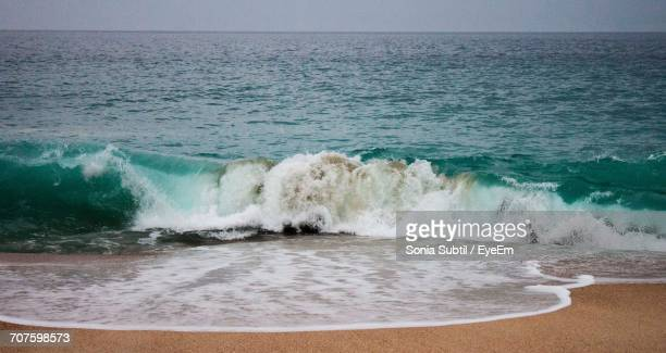 scenic view of sea against sky - nazar stock photos and pictures