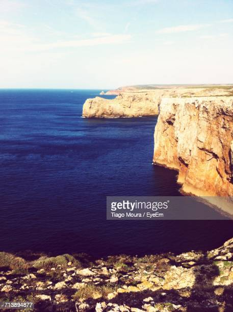 scenic view of sea against sky - moura stock photos and pictures