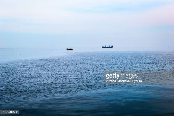scenic view of sea against sky - zuzana janekova stock pictures, royalty-free photos & images