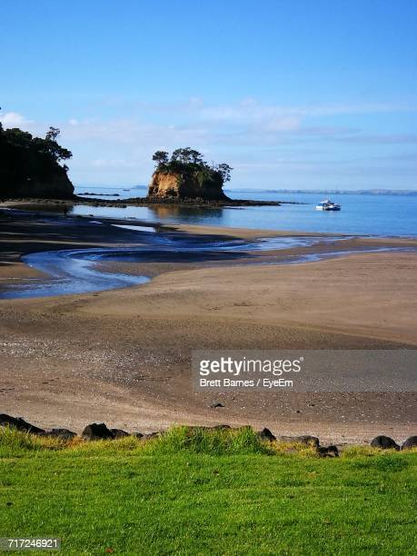 scenic view of sea against sky - brett barnes stock photos and pictures