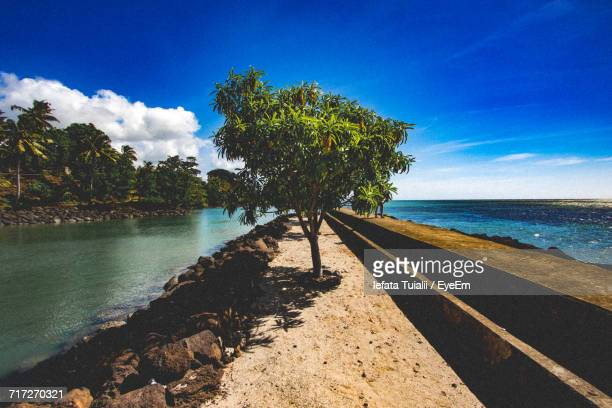 scenic view of sea against sky - apia stock photos and pictures